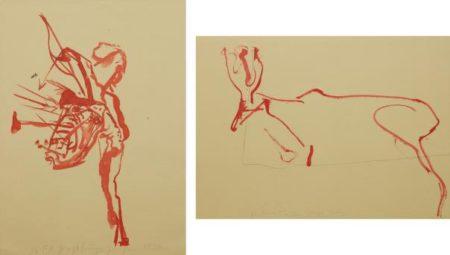 Joseph Beuys-Trace I: Hirsch; And Indianer Mit Pfeilen Beschossen-1974