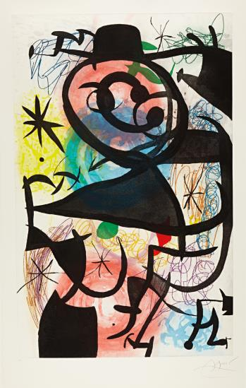 Joan Miro-Le Pitre Rose (Pink Clown)-1974