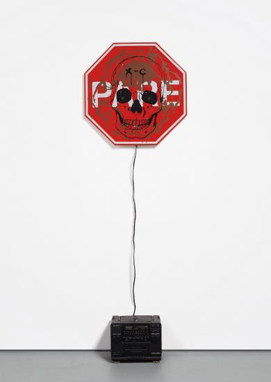 Mike Kelley-Tony Oursler-Singing Stop Sign (Senalizacion De Pare Cantante)-1998
