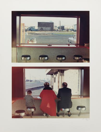 Dan Graham-View Interior, New Highway Restaurant, Jersey City, Nj (Diptych)-1967