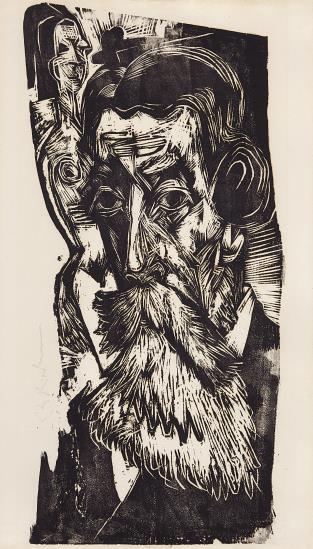 Ernst Ludwig Kirchner-Kopf Ludwig Schames (Head Of Ludwig Schames)-1918