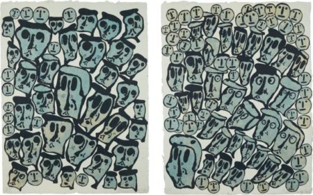 Crowds: Two Prints-1990