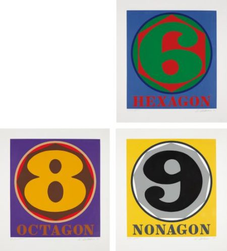 Robert Indiana-Polygons: Hexagon; Octogon; And Nonagon-1975