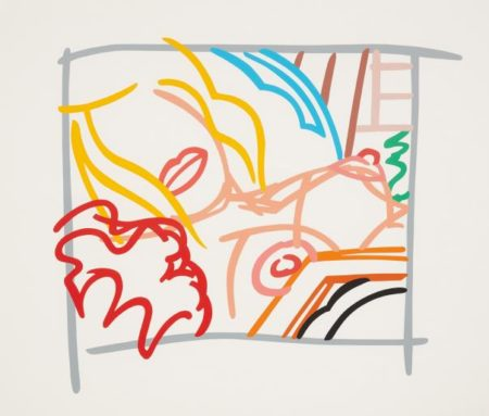 Tom Wesselmann-Bedroom Blonde With Doodle With Photo-1988