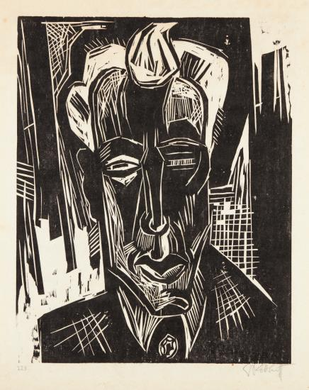 Bildnis Niemeyer (Portrait Of Dr. Wilhelm Niemeyer)-1922