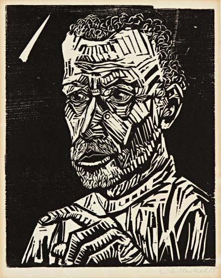 Erich Heckel-Ein Junger (A Disciple)-1915