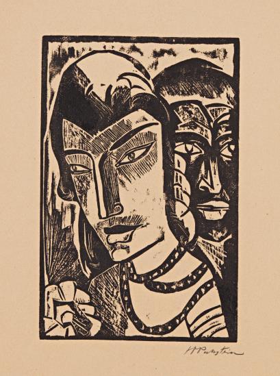 Max Pechstein-Prinzessin, From Hmpechstein Holzschnitte 1919-1918