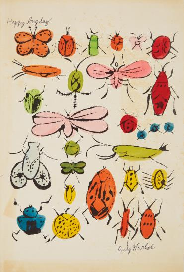 Andy Warhol-Happy Bug Day-1954