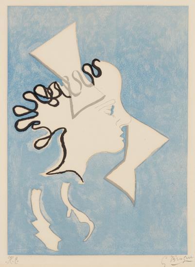 Georges Braque-Profil De Femme, From Si Je Mourais La-Bas-1962