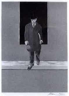 Francis Bacon-Homme descendant d'un trottoir/Homme, buste nu/Telephone-1987
