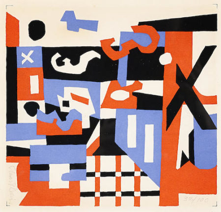 Stuart Davis-Study for a Drawing-1955