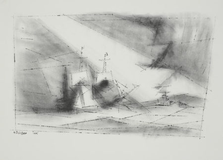 Lyonel Feininger-Off the Coast-1951