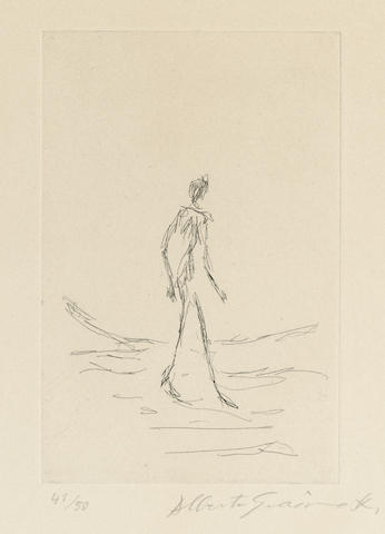 Alberto Giacometti-Frontispiece, from Bibliographie des oeuvres de Rene Char de 1928 a 1963-1964