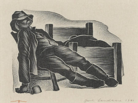Paul Landacre-Sleeping Miner-1941