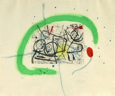 Joan Miro-Preparatifs d'oiseaux IV-1963