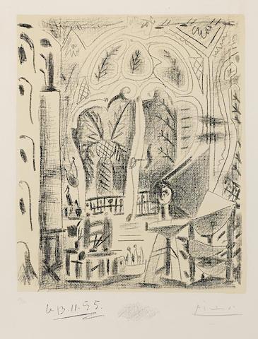Pablo Picasso-L'Atelier de Cannes-1955