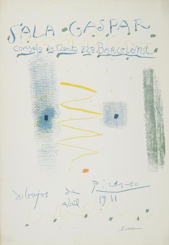 Pablo Picasso-Affiche, Avril-1961