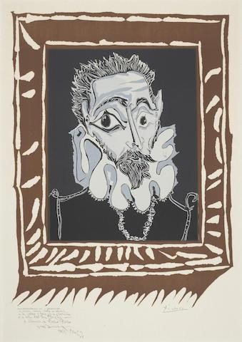 Pablo Picasso-After Pablo Picasso - L'Homme a la Fraise (Poster Edition); Hibou, Verre et Fleur (Galerie 65, Cannes); Affiches Originales des Maitres de l'Ecole de Paris-1973