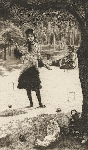 James Jacques Joseph Tissot-Le croquet-1878