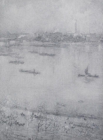 James Abbott McNeill Whistler-The Thames-1896
