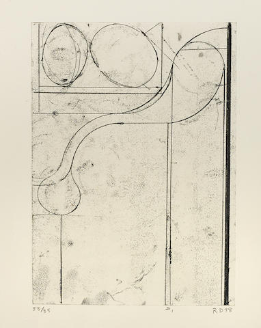 Richard Diebenkorn-#1, from Six Softground Etchings-1978