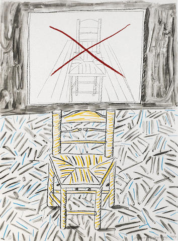 David Hockney-The Perspective Lesson, from Moving Focus-1984