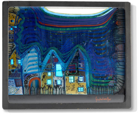 Friedensreich Hundertwasser-Fall in Cloud, Fall in Fog, Fall Out-1979