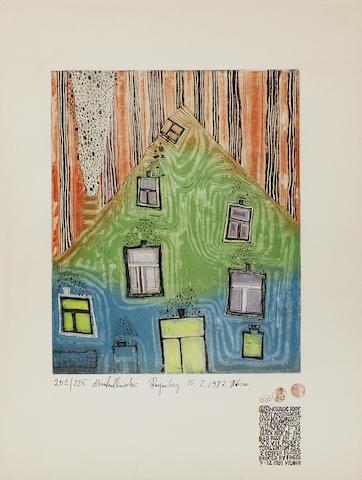 Friedensreich Hundertwasser-Nostalgic Roof-1982