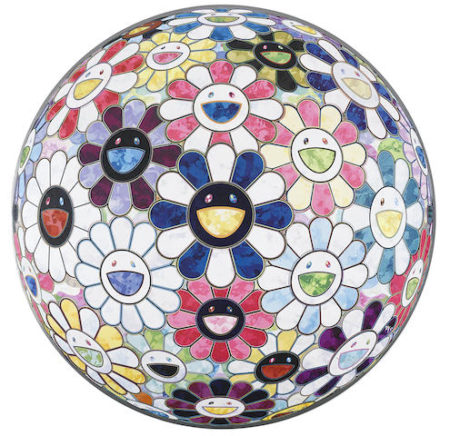 Takashi Murakami-Flower Ball (3D) Autumn 2004; Flower Ball (3D) Sexual Violet no. 1; Flower Ball (3D) Lot of Colors Right There; The Breadth of the Human Heart; Flower ball (3D) Red Ball-2013
