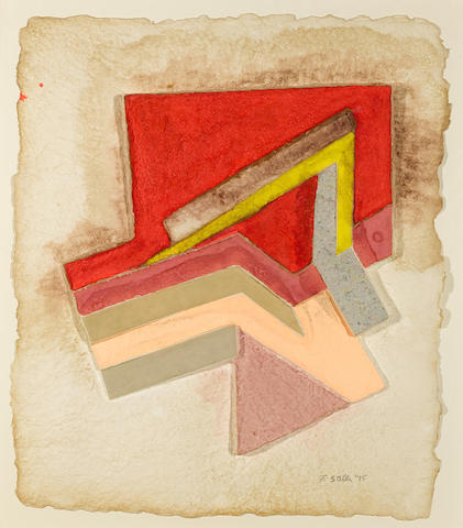 Frank Stella-Lunna Wola (V), from the Paper Relief Project-1975