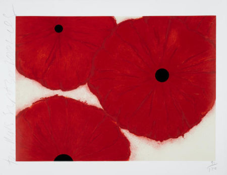 Donald Sultan-Four Reds, September 30-2002