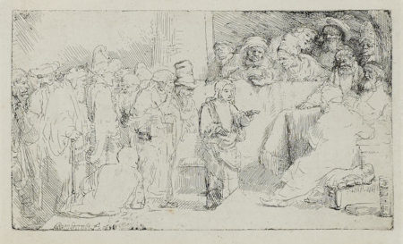 Rembrandt van Rijn-Christ Disputing with the Doctors: A Sketch-1652