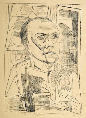 Max Beckmann-Selbst im Hotel, pl. 1, from Berliner Reise-1922