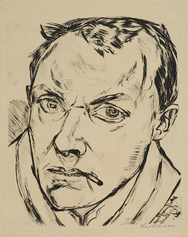 Max Beckmann-Grosses Selbstbildnis-1919