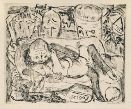 Max Beckmann-Liebespaar II, pl. 5, from Gesichter-1918