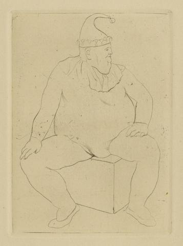 Pablo Picasso-Le Saltimbanque au Repos, pl. X, from La Suite des Saltimbanques-1905