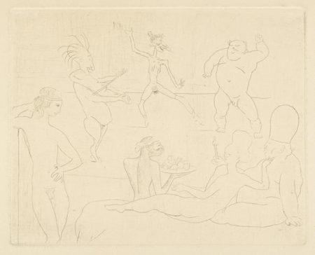 Pablo Picasso-La Danse, pl. XV, from La Suite des Saltimbanques-1905