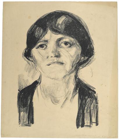 Edvard Munch-Frauenbildnis-1920