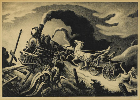 Thomas Hart Benton-Wreck of the Ol' 97-1944