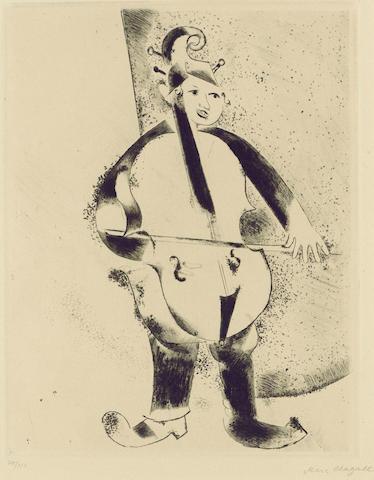 Marc Chagall-Der Musiker, pl. 23, from Mein Leben-1923