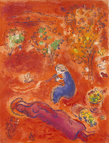 Marc Chagall-A Midi, L'ete, pl. 11, from Daphnis et Chloe-1961