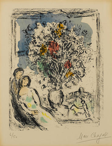 Marc Chagall-The Little Window-1974