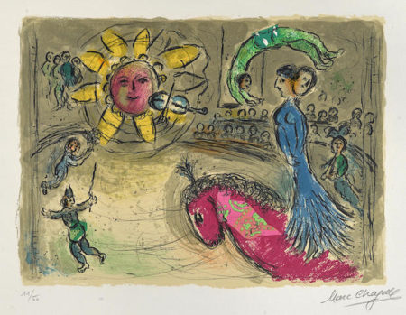 Marc Chagall-Soleil au Cheval rouge-1979