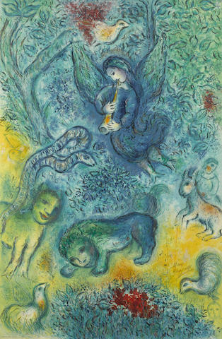 Marc Chagall-After Marc Chagall - The Magic Flute-1967