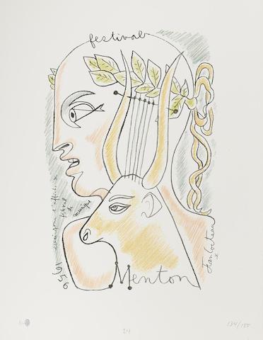 Jean Cocteau-Jean Cocteau: 25 Lithographies Originales-1958