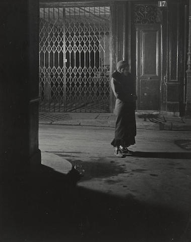 Brassai-Prostitute in Slippers, Naked under Her Coat, Rue Quincampoix-1932
