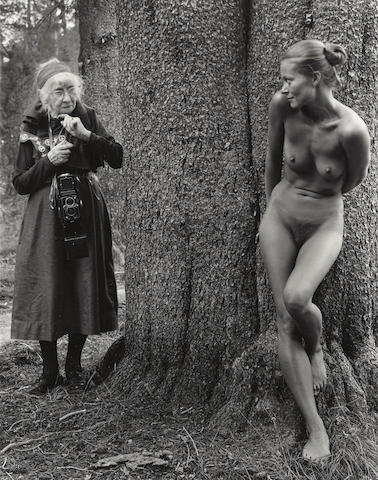Judy Dater-Imogen and Twinka at Yosemite-1974