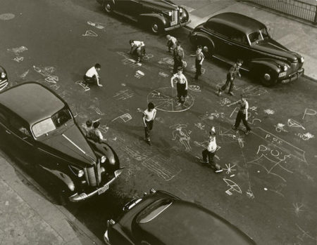 Arthur Leipzig-Chalk Games, New York City-1950