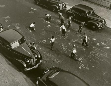 Arthur Leipzig-Chalk Games, New York City-1950