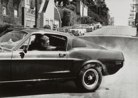 Barry Feinstein-Steve McQueen, Burning Rubber, Bullitt Car-1968
